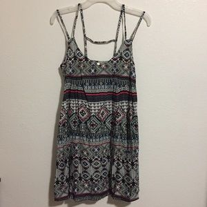 Truth NYC Boho Festival Print Strappy Short Dress